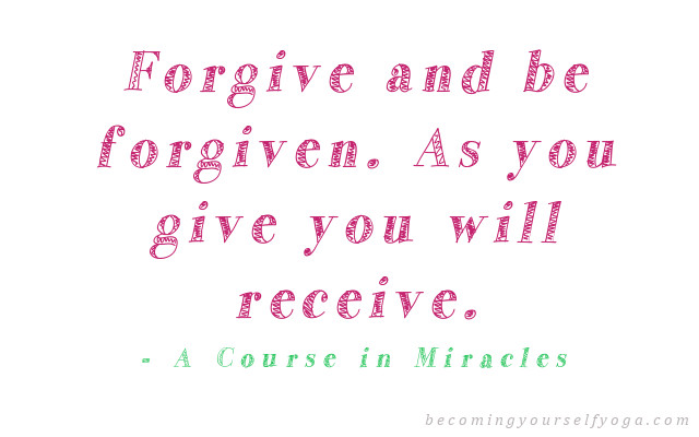A Course in Miracles forgiveness quote