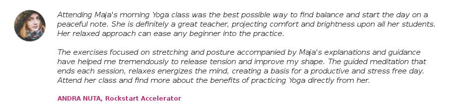 testimonials private yoga